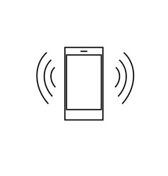 ring phone icon vector image