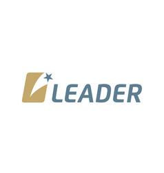 Rising star initial letter l leader logotype logo vector