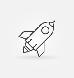 rocket outline icon start up sign in thin vector image