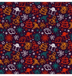 seamless pattern joyful Christmas vector image
