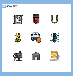 Set 9 modern ui icons symbols signs for delete vector