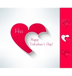 Set of valentines couple sign with two vector image