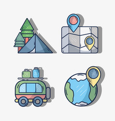 set thing to used in the travel vector image