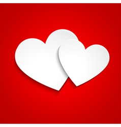 Simple paper hearts vector image