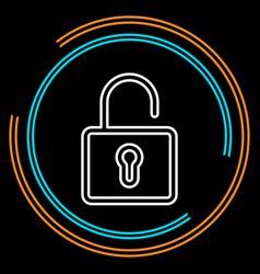 simple unlock thin line icon vector image