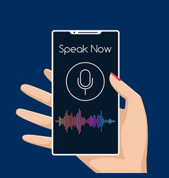 Smartphone voice assistant vector
