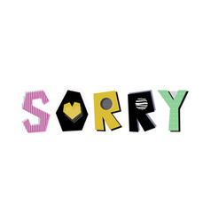 Sorry lettering vector
