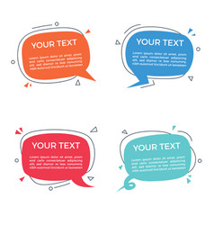 speech bubble with text space vector image
