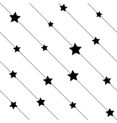 Stars on line seamless pattern vector image