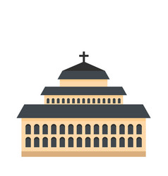 tall church icon flat style vector image
