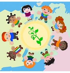 The Sprout in the Sun and Children of the World ho vector