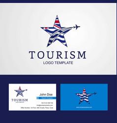 Travel british indian ocean territory flag vector