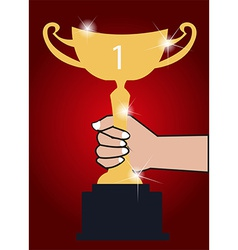 Trophy winner background vector image