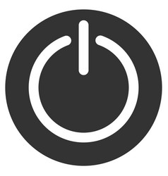 Turn off power flat icon vector