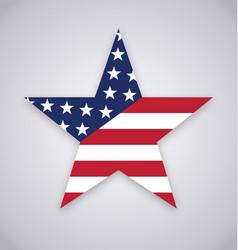 Usa american flag star shape vector