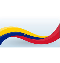 venezuela waving national flag modern unusual vector image