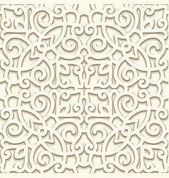 Vintage beige seamless pattern vector