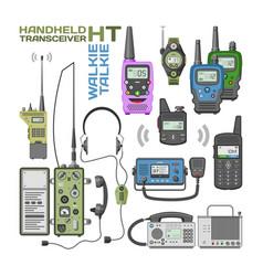 walki-talkie radio portable transmitter vector image