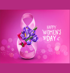 background to the 8th of march womens day vector image vector image