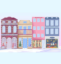city architecture facades different vector image