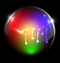 flowing painted sphere vector image