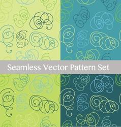 Abstract Geometric hand drawn seamless patt vector image