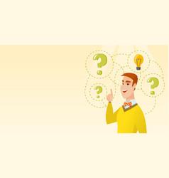 caucasian business man having business idea vector image vector image