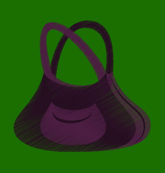 Flat shading style icon clothes handbag vector