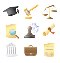 Icons for law vector image vector image
