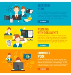 Personal Assistant Banner vector image