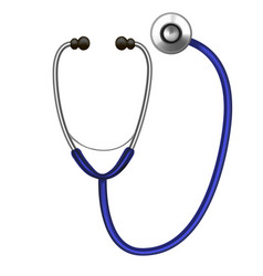 Realistic detailed stethoscope diagnostic vector