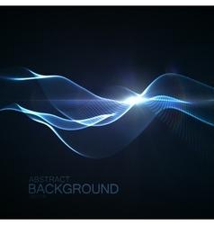 3D illuminated neon digital wave vector image vector image