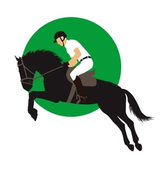 Equestrian sports design vector image vector image