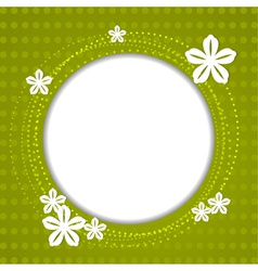 Green spring background with white flowers vector image vector image