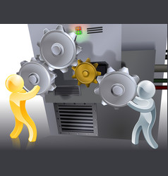 mascots setting machine vector image