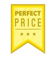 Perfect price pennant icon cartoon style vector image vector image