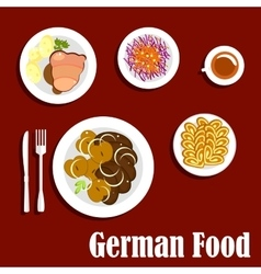 Popular national german cuisine dishes vector image vector image