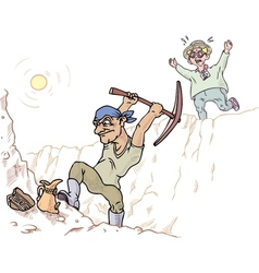 Archaeologist and his Assistant vector image