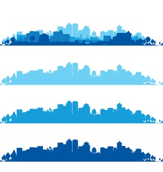 cityscape wide vector image vector image