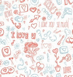 Doodles for Valentines day vector image vector image