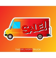 Sale bus isolated vector image
