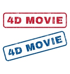 4D Movie Rubber Stamps vector image