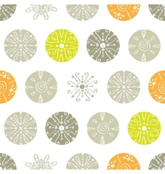 Abstract gray and green polka dot seamless vector