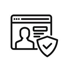 account icon vector image