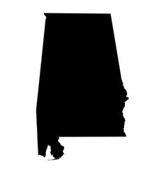 Alabama al state map usa black silhouette solid vector