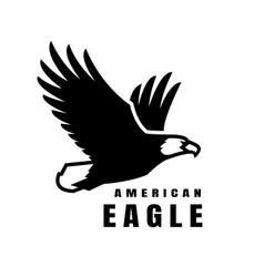 american eagle flying bird logo simbol vector image