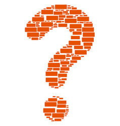 answer shape of building brick icons vector image
