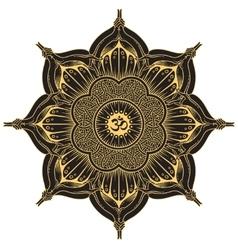 background round Yoga mandala vector image