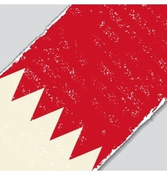 Bahrain grunge flag vector