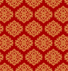 Beautiful art pattern wallpaper on red background vector